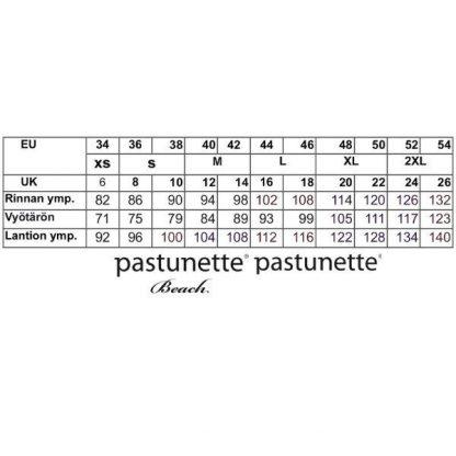 Pastunette_trikoomekko__off_shoulder__kukkavuviollinen__pituus_95cm