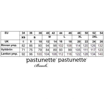Pastunette_mittataulukko